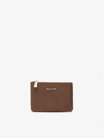 محفظة نقود معدنية جلد منقوش
