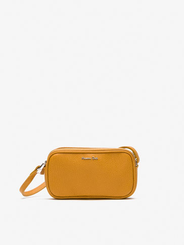 EMBOSSED LEATHER MINI CROSSBODY BAG
