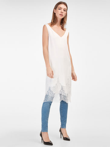 SUPER SKINNY FIT SKY BLUE JEANS WITH RIPS
