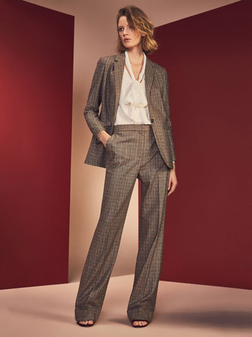PRINCE OF WALES CHECK SUIT TROUSERS