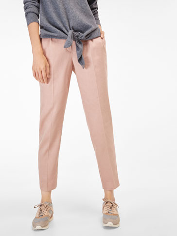 POWDER FINISH PLEATED TROUSERS