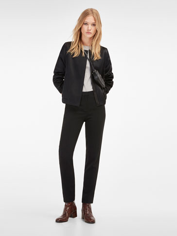 BLACK CREPE SMART TROUSERS