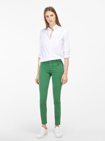 SILK SATIN EFFECT TROUSERS