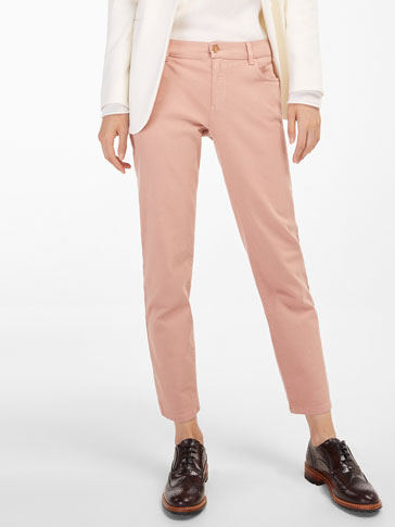 RELAXED FIT TWILL TROUSERS