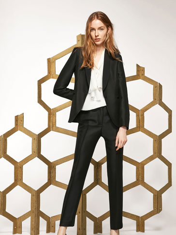 BLACK SUIT TROUSERS