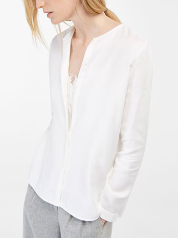 SHIRT WITH ROUND NECK DETAIL