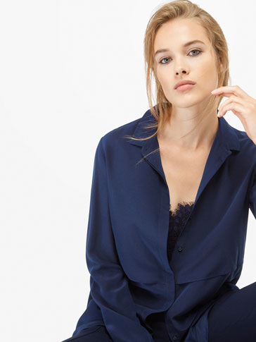 DOUBLE LAYER SILK SHIRT