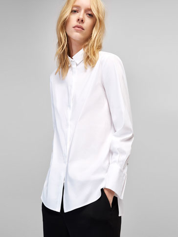 SHIRT WITH GEM BUTTON DETAIL