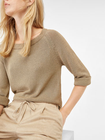 SEMI-BOATNECK SWEATER