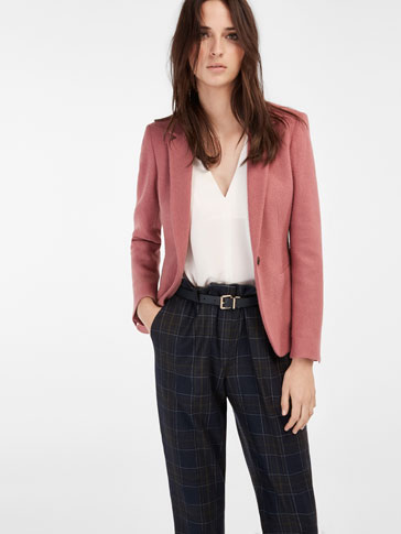 PINK BOILED WOOL BLAZER