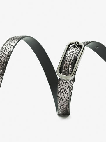 CRACKLED LEATHER BELT