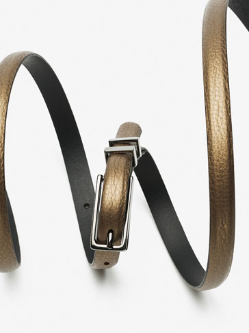 BELT WITH DOUBLE METALLIC LOOP