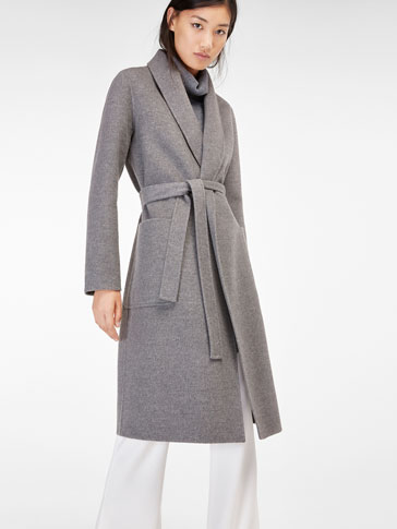 OVERCOAT WITH BELT DETAIL