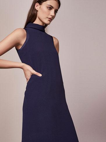 BLUE MOCK LAYER DRESS
