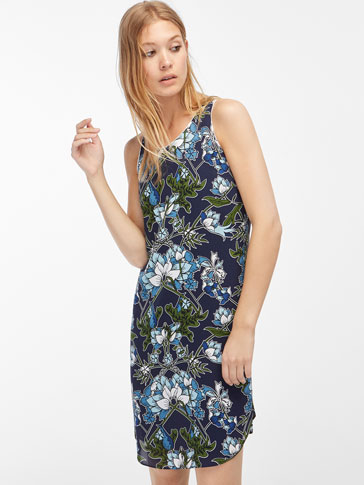 HALTER NECK FLORAL DRESS