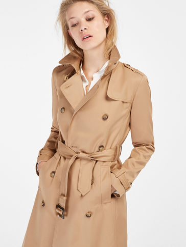 CLASSIC CAMEL-TONED TRENCH COAT