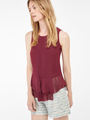 FRILLED DETAIL TOP