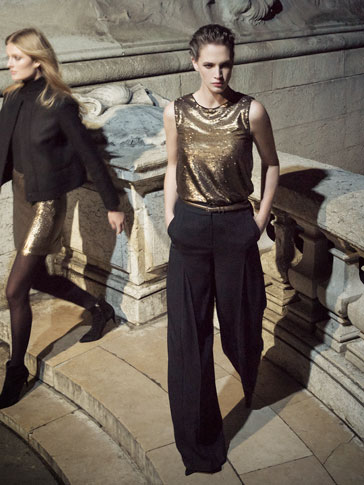 GOLD SEQUINNED TOP