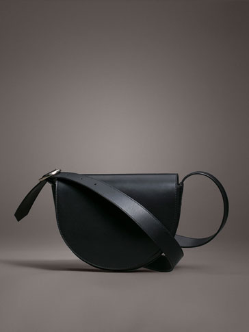 LIMITED EDITION LEATHER PLAIN CROSSBODY BAG