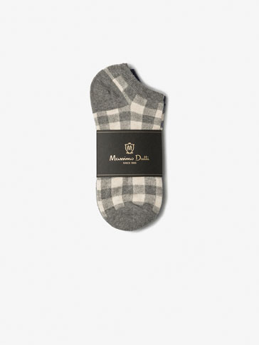 PACK OF GINGHAM CHECKED ANKLE SOCKS