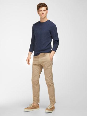 سروال جينز من نسيج السيرجي