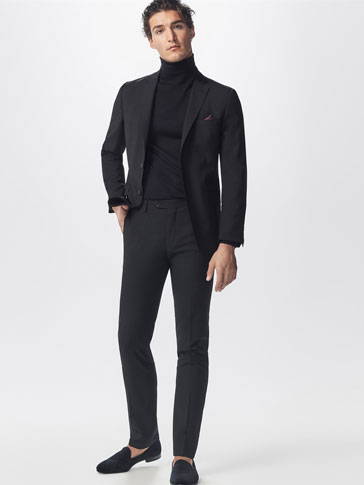 BASIC WOOL SUIT TROUSERS
