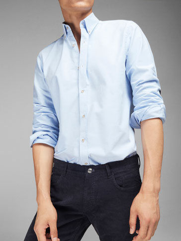 OXFORD SHIRT WITH ELBOW PATCH DETAIL