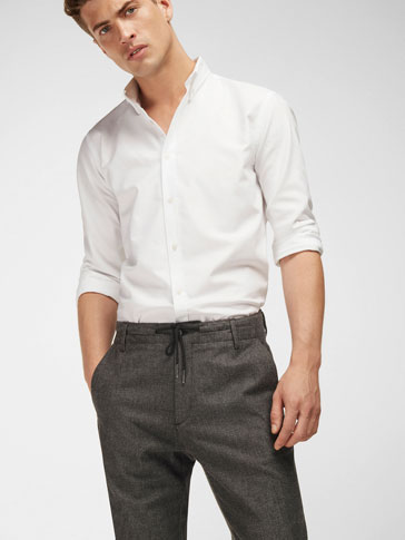 CAMISA BLANCA CODERAS SLIM FIT