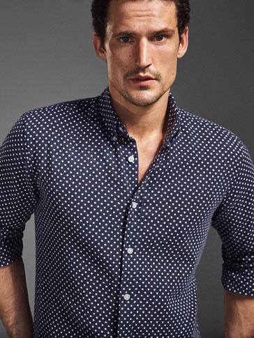 قميص أزرق منقط اصدار محدود