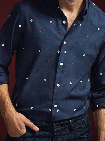 LIMITED EDITION SHIRT WITH COLOURFUL EMBROIDERY
