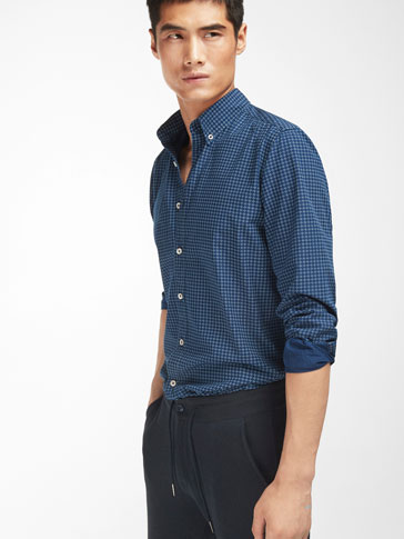 CAMISA DENIM ESTAMPADA SLIM