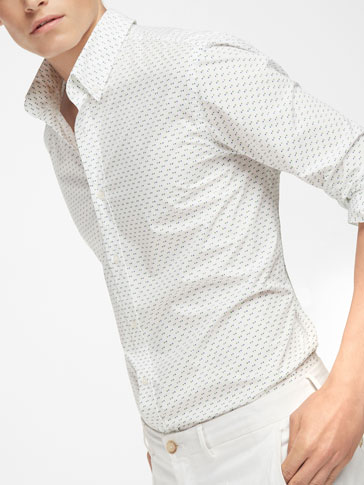 DOUBLE POLKA DOT SLIM FIT SHIRT