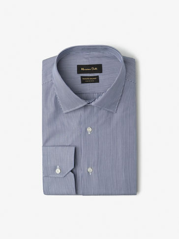 SLIM FIT THIN STRIPED POPLIN SHIRT