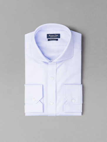 CAMISA CELESTE FALSO LISO PERSONAL TAILORING