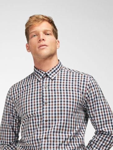 SLIM FIT GINGHAM CHECK SHIRT
