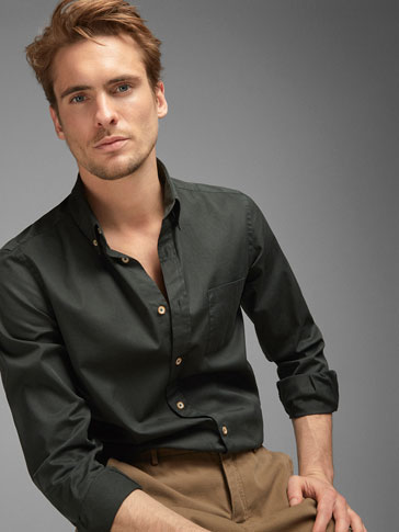 PLAIN DYED SLIM FIT SHIRT