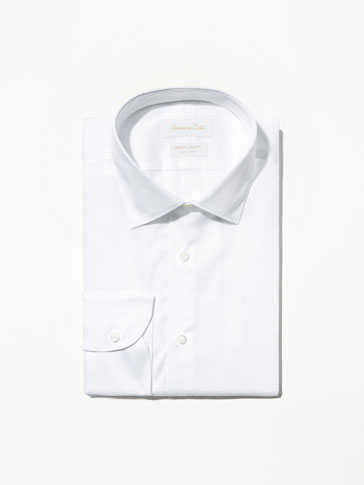 WHITE FALSE-PLAIN SHIRT