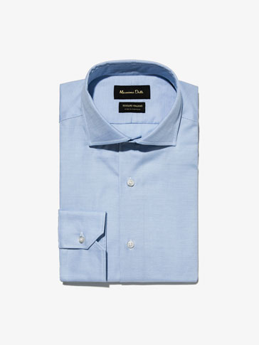 MICRO-STRUCTURED SLIM FIT SHIRT