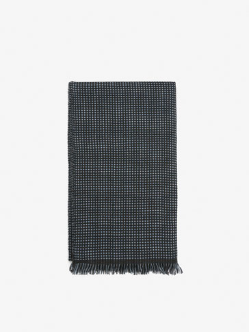 REVERSIBLE TEXTURED WOOL SCARF