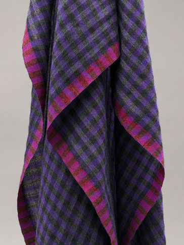 PERSONAL TAILORING GINGHAM CHECKED CASHMERE PASHMINA
