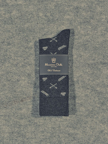 LIMITED EDITION WOOL/CASHMERE JACQUARD SOCKS