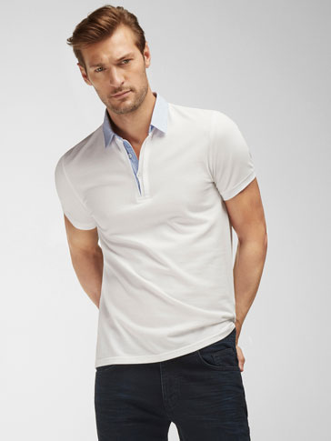 POLO SHIRT WITH SHIRT COLLAR