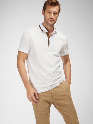 POLO SHIRT WITH CONTRASTING TRIM