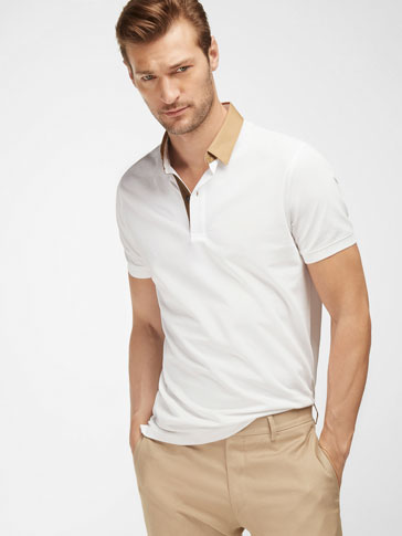 TWILL POLO SHIRT WITH SHIRT COLLAR