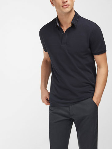 EMBROIDERED POLO SHIRT WITH SHIRT COLLAR