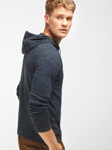 INDIGO HOODED SWEATER