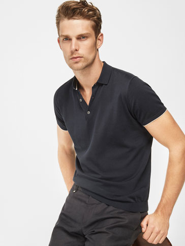 TEXTURED POLO SHIRT