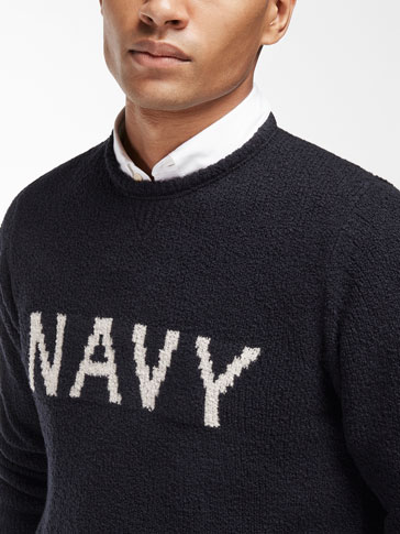 NAVY DETAIL SWEATER