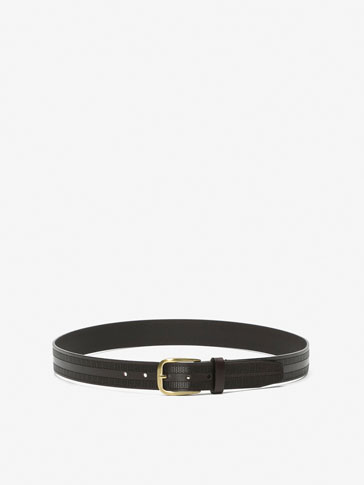 PERFORATED CALFSKIN BELT