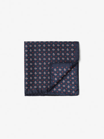 SILK TEARDROP POCKET SQUARE